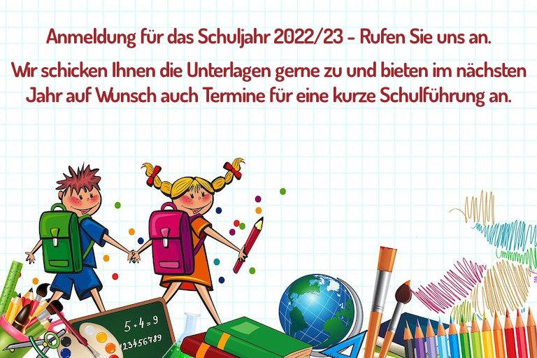 Anmeldung für das Schuljahr 2022/23